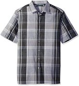 Perry Ellis Men's Big Chambray Plaid Shirt