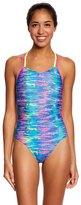 Speedo Missy Franklin Endurance Lite Rainbow Tides Double Cross Back One Piece Swimsuit 8149871