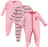 Luvable Friends Pink Fox Snap-Front Playsuit Set - Infant
