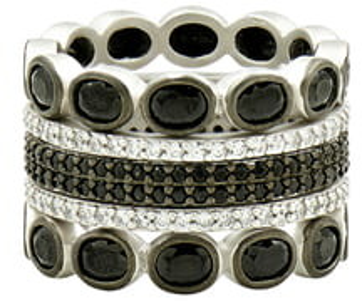 Freida Rothman Industrial Finish 5-Set Stackable Rings