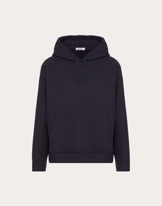 Valentino Hooded Sweater Man Navy 100% Cotone L