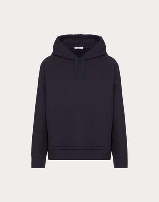 Valentino Hooded Sweater Man Navy 100% Cotone M