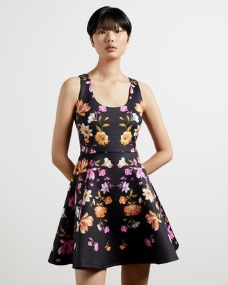 Ted Baker Rhubarb Cut Out Back Skater Dress