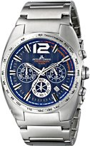Jacques Lemans Men's 1-1721C Powerchrono 11 Analog Display Quartz Silver Watch