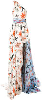 Fausto Puglisi flared maxi dress - women - Silk/Acetate - 40