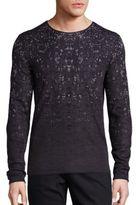 John Varvatos Silk & Cotton Blend Printed Sweater
