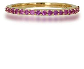 Ron Hami Yellow Gold and Pink Sapphire Pave Band Ring
