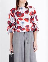 Osman Rena floral-jacquard top