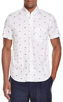 Steven Alan Planet Print Regular Fit Button Down Shirt