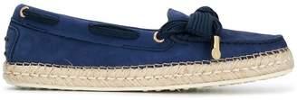 Tod's raffia sole loafers