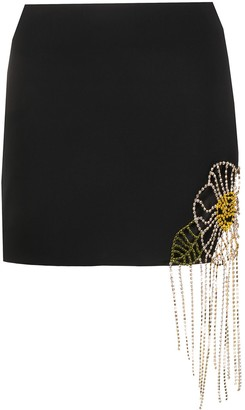 Area Crystal-Embellished Mini Skirt