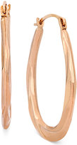 Macy's 10k Rose Gold Earrings, Oval Swirl Hoop Earrings