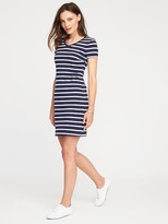 Old Navy Fitted V-Neck Tee Dress for Women