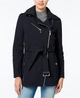 BCBGeneration Hooded Asymmetrical Raincoat