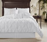 Chezmoi Collection Sydney 6 Piece Pintuck Comforter Set, Twin, White