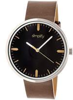 Simplify The 4500 Unisex Brown Strap Watch-Sim4502
