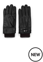 Ted Baker Ribbed Cuff Leather Glove