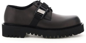 Valentino vltn buckle leather lace up