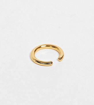 Orelia gold plated single ear cuff