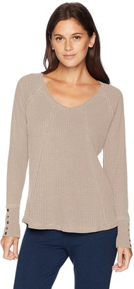 PJ Salvage Women's Washed Waffle L/S TOP