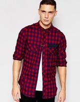 G Star G-Star Shirt Type C Oversized Longline Rinsed Indigo Check