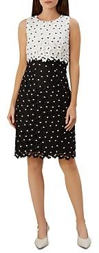 Hobbs London Lulu Sleeveless Floral-Lace Dress