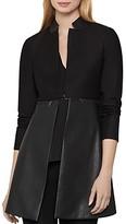 BCBGMAXAZRIA Faux-Leather Zip-Off Jacket