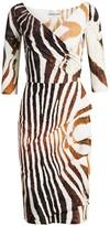 Chiara Boni Florien Zebra Print Dress