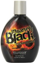 Millenium Tanning Insanely Black Ultra Dark Bronzer Tanning Lotion Beyond Blaque, 60x, 13.5-Ounce