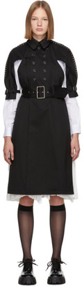 Noir Kei Ninomiya Black Harness Back Trench Coat