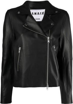 S.W.O.R.D 6.6.44 Stud-Embellished Biker Jacket