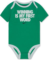 Nike Winning Is My First Word Cotton Bodysuit, Baby Boys (0-24 months)