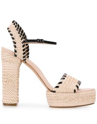 Casadei Woven Platform Sandals