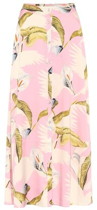 Temperley London Theodora stretch-silk midi skirt