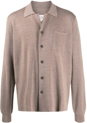 Maison Margiela Knitted Collared Cardigan
