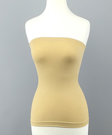 Nude Strapless Tummy-Control Camisole