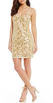 Trina Turk Highlight Metallic Mesh Dress