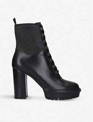 Gianvito Rossi Martis 105 leather ankle boots