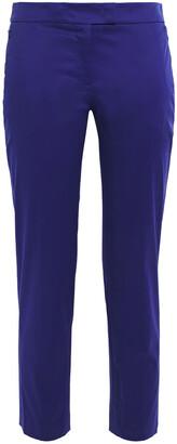 Akris Cropped Cotton-blend Slim-leg Pants