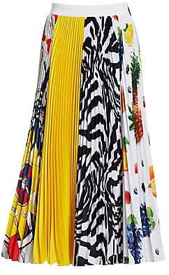 Women`s Multi-Pattern Pleat Skirt
