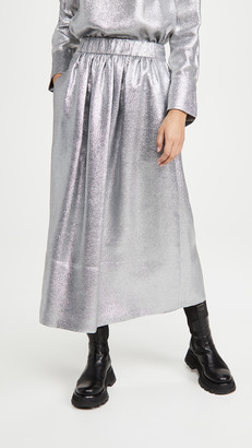 Tibi Smocking Waistband Full Skirt