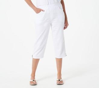 Quacker Factory Capri Pants with Star Zipper