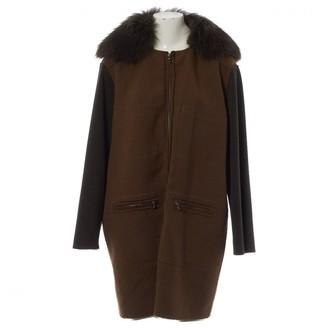 Lanvin Khaki Raccoon Coat for Women