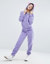 Asos Animal Onesie in Fleece with Ear Detail