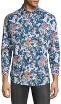 Robert Graham Men's Paril Creek Printed Cotton Button-Down Shirt
