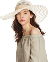 Aqua Floppy Sun Hat with Ribbon Trim - 100% Exclusive