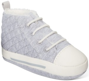First Impressions Baby Boys Sneakers With Faux-Sherpa Lining, Created For Macy's