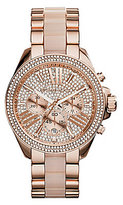 Michael Kors Wren Pave Stainless Steel Chronograph Bracelet Watch