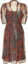 DAY Birger et Mikkelsen Aboriginal Orange Paisley Print Ashley Dress