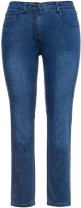 Ulla Popken Women's Jeans Sarah Skinny 5-Pocket Stretch schmales Bein